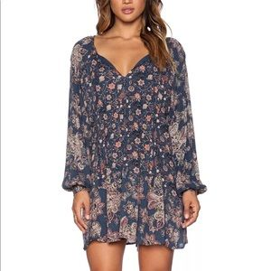 FREE PEOPLE Lucky Loosey Floral Swing Tunic Dress